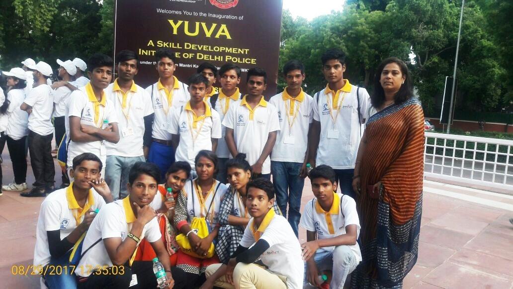 NYCS Presence at YUVA: A Skill Development Initiative of Delhi Police.